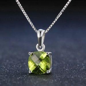 ❤️ Natural Peridot & Silver Necklace 1190001290